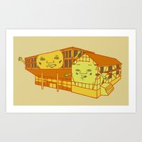Old school and new school Art Print