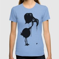 Flamingo Womens Fitted Tee Athletic Blue SMALL