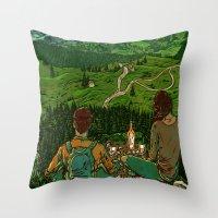 Mountains in Romania Throw Pillow