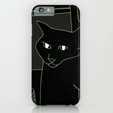 Neon Black Cat Shoulder Piece iPhone 6 Slim Case