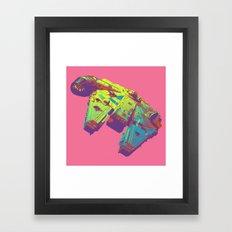 Pop Millennium Falcon On Pink Framed Art Print