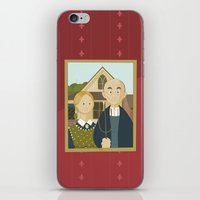 American Gothic by Grant Wood iPhone & iPod Skin
