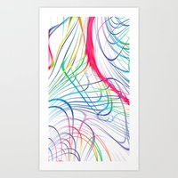 Wired At Heart Art Print