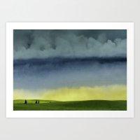 Alberta Fields Art Print