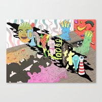 naked lunch Canvas Print