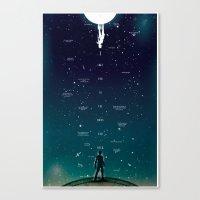 Love Ya To The Moon And … Canvas Print