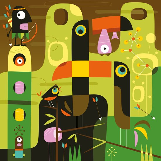 The toucan hunter Art Print