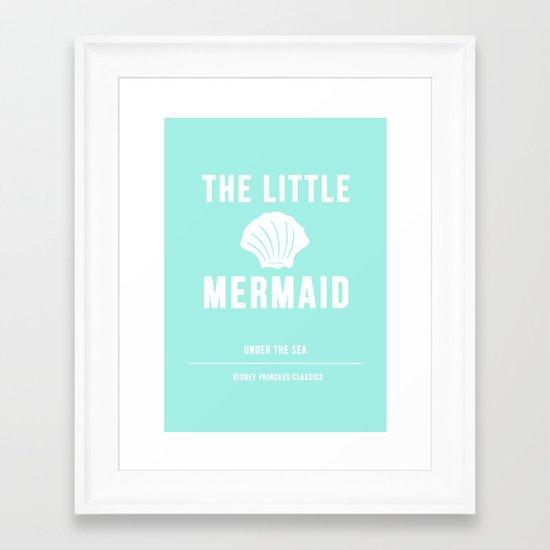 Disney Princesses: The Little Mermaid Minimalist Framed Art Print