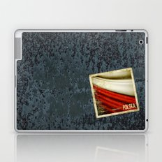 STICKER OF POLAND flag Laptop & iPad Skin