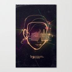 Asian Disco Laser Canvas Print