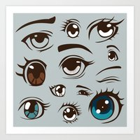 anime Art Prints featuring Anime by Darish