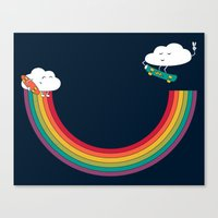 Rainbow Halfpipe Canvas Print