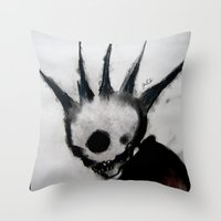 Punk Macabre Throw Pillow