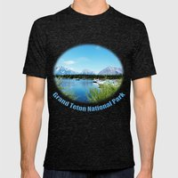 Grand Teton National Park. Landscape photography. Mens Fitted Tee Tri-Black SMALL