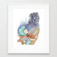 catch the stars Framed Art Print