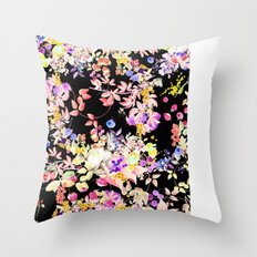 Soft Bunnies black Throw Pillow
