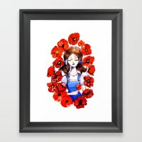 Poppies will put Her to Sleep Framed Art Print