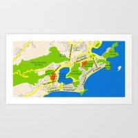 RIO Map Design - Brasil Art Print