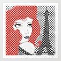 Paris ReadHead Art Print