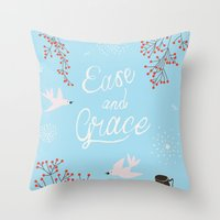 'Ease and Grace' Throw Pillow