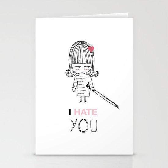 I Hate You / Kill Bill Stationery Card