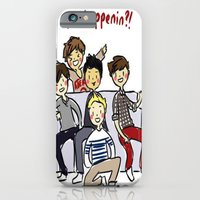 iPhone & iPod Case featuring One Direction 'Vas Happenin' Cartoon by xjen94