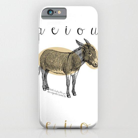 A  e  i  o  u    borriquito como tú iPhone & iPod Case