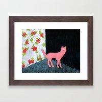 Dog Room Framed Art Print