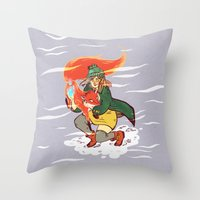 The Detective And The Fo… Throw Pillow