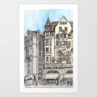 Downtown Basel, Switzerl… Art Print