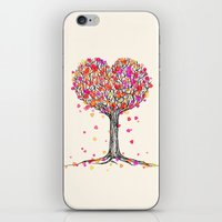 Love in the Fall - Heart Tree Illustration iPhone & iPod Skin