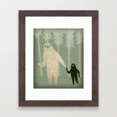 Sasquatch and Her Son Framed Art Print