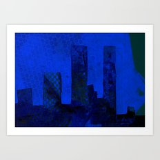 Blue City Art Print