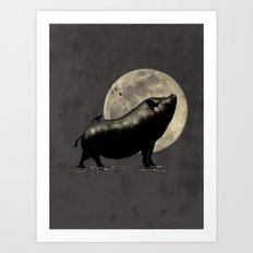 barking pig Art Print