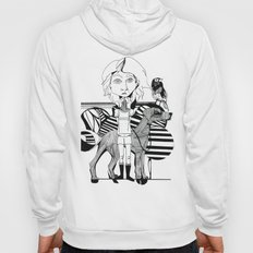 the girl, her dog and a bird Hoody
