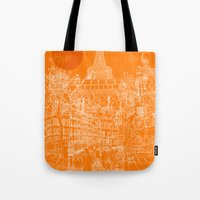 Paris! Orange Sun Tote Bag