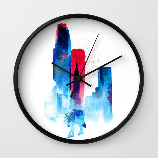 The wolf of the City Wall Clock