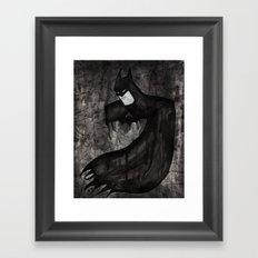 Black Bat Framed Art Print
