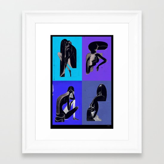 Pin-ups Framed Art Print