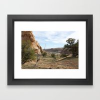 Horsethief Bench And Col… Framed Art Print