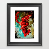 Dance Lobster Framed Art Print