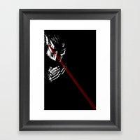 Predator Black And White Framed Art Print