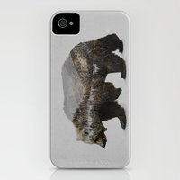 iPhone Cases featuring The Kodiak Brown Bear by Davies Babies