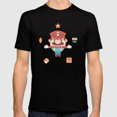 Super Mario Mens Fitted Tee Black SMALL