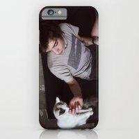 boy with cat iPhone 6 Slim Case