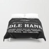 Idle Hand Duvet Cover