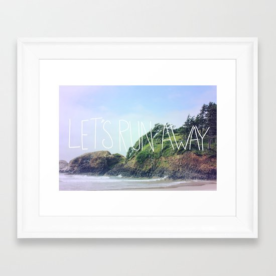 Let's Run Away: Cannon Beach, Oregon Framed Art Print