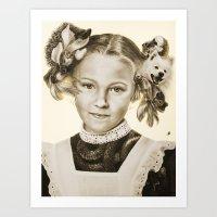 Childhood Pets Art Print