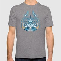 Island Of The Lambent Mo… Mens Fitted Tee Tri-Grey SMALL