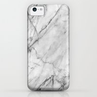 iPhone 5c Cases featuring Carrara Marble by Patterns and Textures